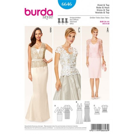 Dress and top Burda n°6646
