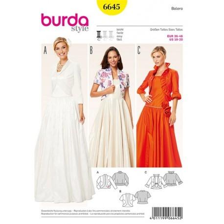 Bolero Burda n°6645