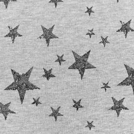 Tissu sweat léger Etoile Glitter - anthracite x 10cm