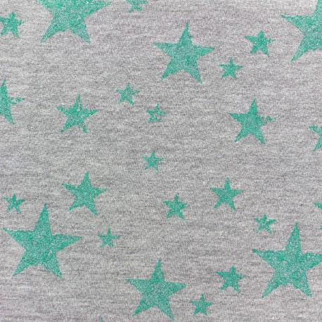 Jogging fabric Etoile Glitter - light green x 10cm