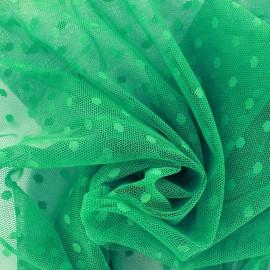 Tulle Bran Point d'esprit - vert x10cm