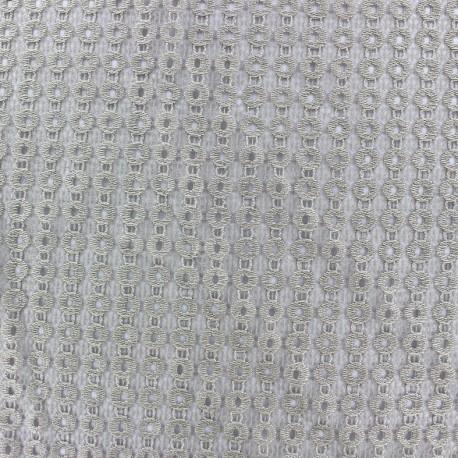 Tissu Lycra ajouré Circle - taupe x 10cm