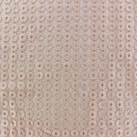 Openwork lycra fabric Circle - peach x 10cm