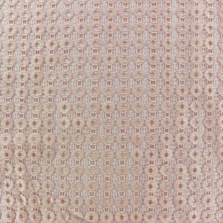 Openwork lycra fabric Circle - peach