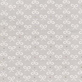 Fabric Bitty Bows - cloud x 10cm