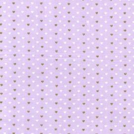 Tissu Heart  Sprinkles - opal  x 10cm