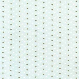 Fabric Heart  Sprinkles - mist x 10cm