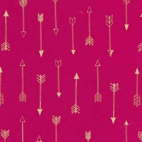 Tissu  Arrows - fuchsia  x 10cm