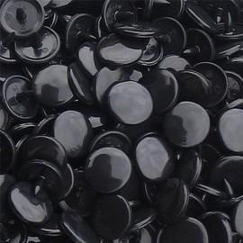 10 pressions rondes Kam résine noir