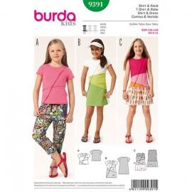 T-shirt et robe Burda Kids n°9391