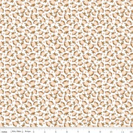 Tissu Flanelle Sweet monkey blanc x 10 cm