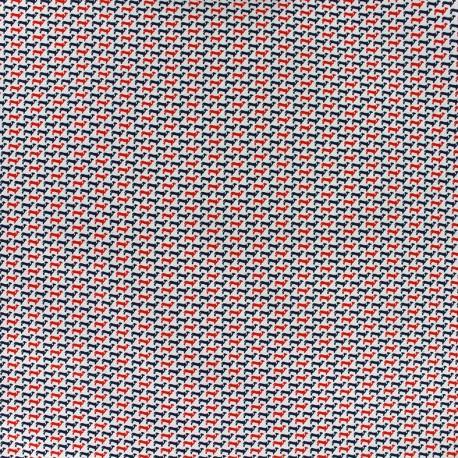 Tissu popeline Mini Dog - rouge x 10cm