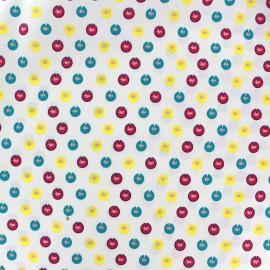 Tissu coton Color Petits Nénuphars - écru x 10cm