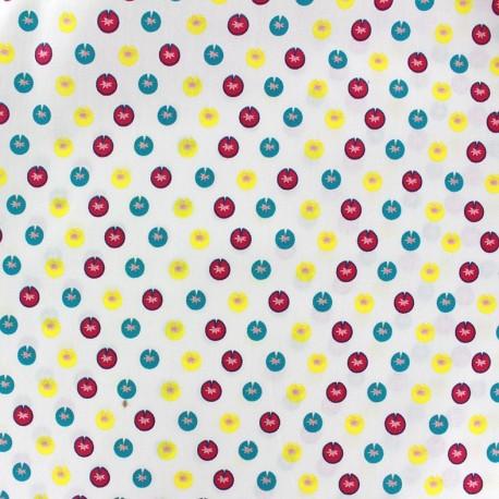 Tissus pas cher 100 coton tissu coton color petits n nuphars cru - Tissus bohemes colores ...