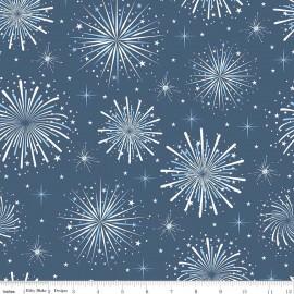 Tissu Parade Fireworks Navy x 40cm
