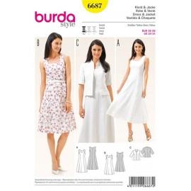 Patron Femme Robe et veste Burda n°6687
