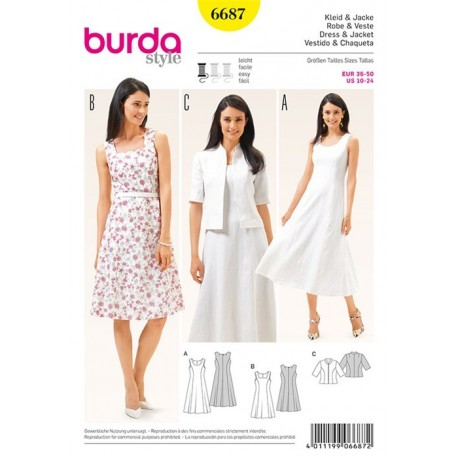 Dress and jacket Burda n°6687