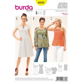 Dress and blouse Burda n°6685