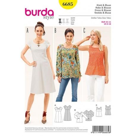 Dress and blouse Burda n°6687