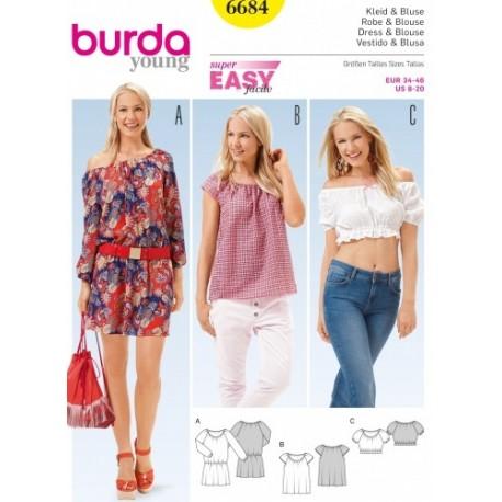 Dress and blouse Burda n°6684