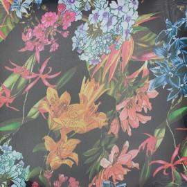 Muslin fabric Garden - black x 20cm