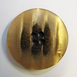 Satiny button - antique gold