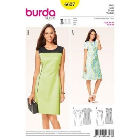 Robe Burda n°6627