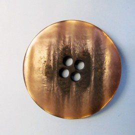 Satiny button - copper
