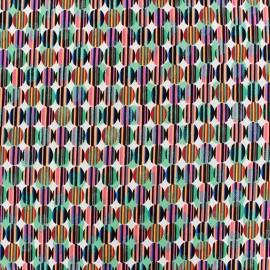 Tissu Lycra Pastille remix - mandarine x 10cm