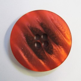 Satiny button - red