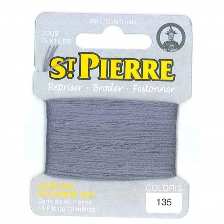 Laine Saint Pierre 40 M card Darning / embroidery - 165 Steel