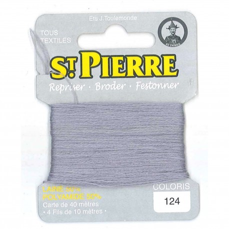 Laine Saint Pierre 40 M card Darning / embroidery - 124 Pearl grey