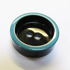Button, Vintage - turquoise