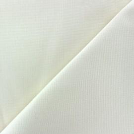 Tissu toile Plein Air 320cm - blanc x 10cm