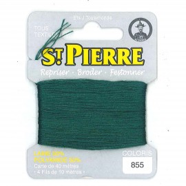Laine Saint Pierre 40 M card Darning / embroidery - 855 Leaf green