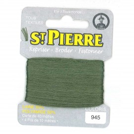Laine Saint Pierre 40 M card Darning / embroidery - 945 Shetland green