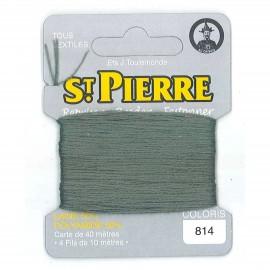 Laine Saint Pierre pour repriser / broder - sauge n°814