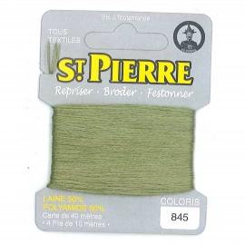 Laine Saint Pierre pour repriser / broder - fougère n°845