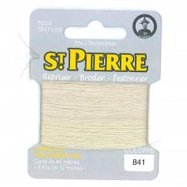 Laine Saint Pierre pour repriser / broder - lichen n°841