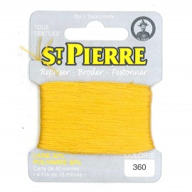 Laine Saint Pierre 40 M card Darning / embroidery - 360 Gold