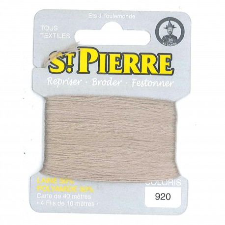 Laine Saint Pierre 40 M card Darning / embroidery - 920 Natural