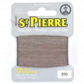 Laine Saint Pierre 40 M card Darning / embroidery - 250 Light taupe