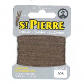 Laine Saint Pierre 40 M card Darning / embroidery - 926 Chesnut
