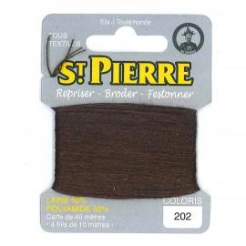 Laine Saint Pierre pour repriser / broder - cigare n°202