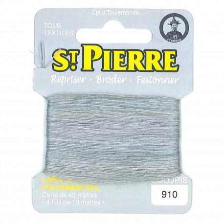 Laine Saint Pierre pour repriser / broder - gris clair n°910