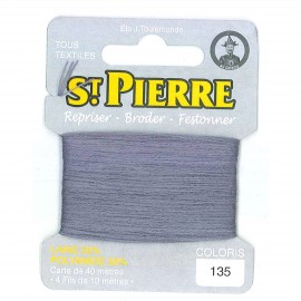 Laine Saint Pierre 40 M card Darning / embroidery - 135 mouse gray