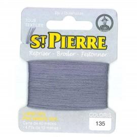 Laine Saint Pierre pour repriser / broder - gris souris n°135