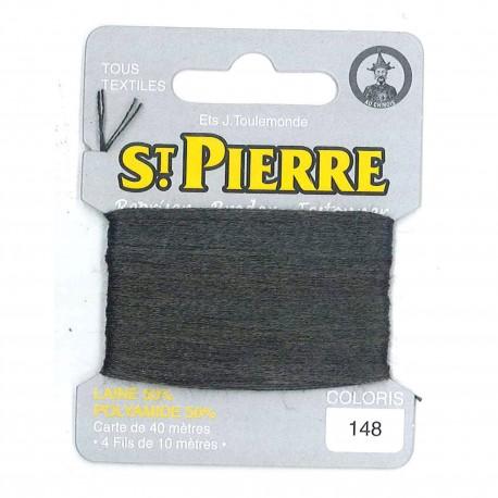 Laine Saint Pierre pour repriser / broder - gris n°148