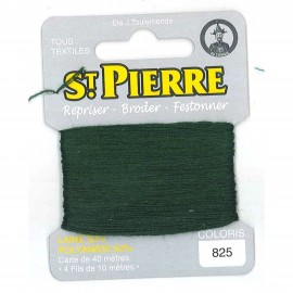Laine Saint Pierre 40 M card Darning / embroidery - 825 Pine green