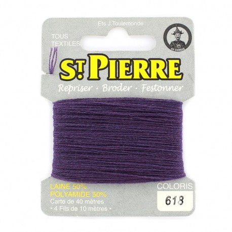 Laine Saint Pierre 40 M card Darning / embroidery - 618 Blackcurrent